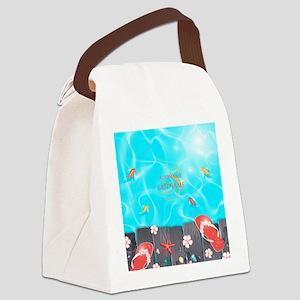 Summer Beach Flip Flops Starfish Canvas Lunch Bag