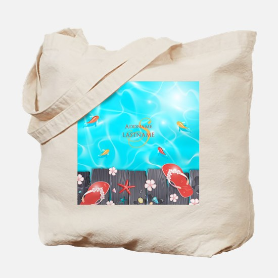 Summer Beach Flip Flops Starfish Personal Tote Bag