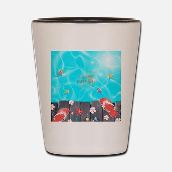 Summer Beach Flip Flops Starfish Person Shot Glass