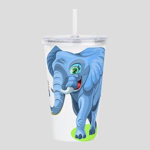 Cartoon Elephant Acrylic Double-wall Tumbler