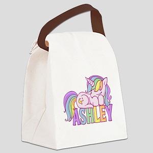 Ashley Unicorn Canvas Lunch Bag