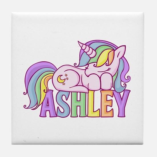 Ashley Unicorn Tile Coaster