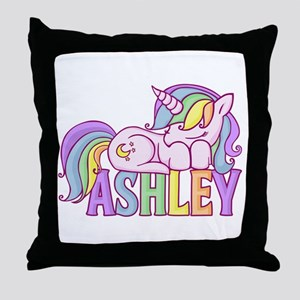 Ashley Unicorn Throw Pillow