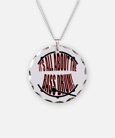 It's All About The Bass... D Necklace Circle Charm