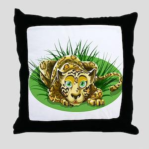 Cartoon Leopard Throw Pillow