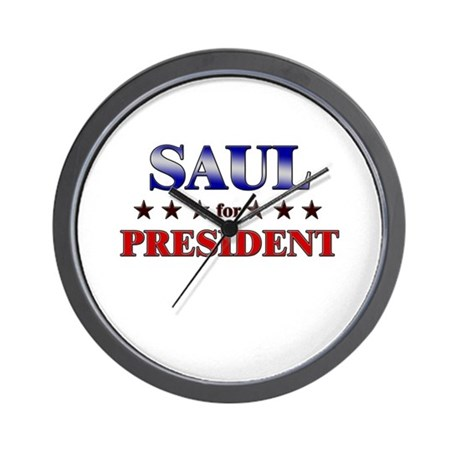 SAUL for president Wall Clock