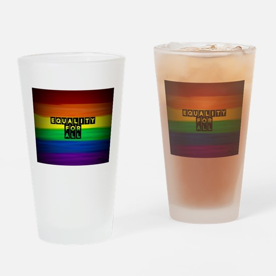 Equality for all . Rainbow art Drinking Glass