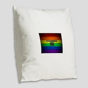 Equality for all . Rainbow art Burlap Throw Pillow