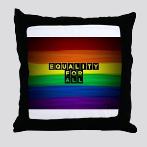 Equality for all . Rainbow art Throw Pillow