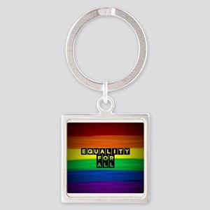 Equality for all . Rainbow art Keychains