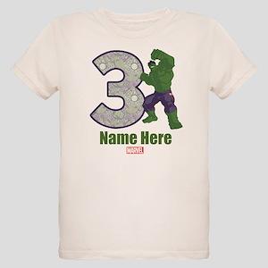 Personalized Hulk Age 3 Organic Kids T-Shirt
