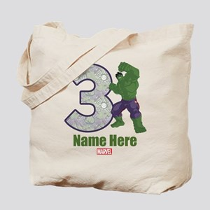 Personalized Hulk Age 3 Tote Bag