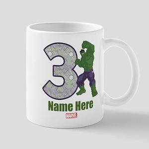 Personalized Hulk Age 3 Mug