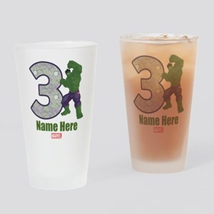 Personalized Hulk Age 3 Drinking Glass