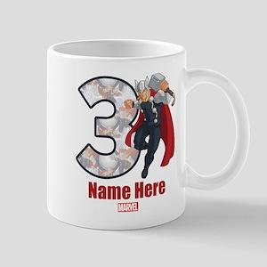Personalized Thor Age 3 Mug