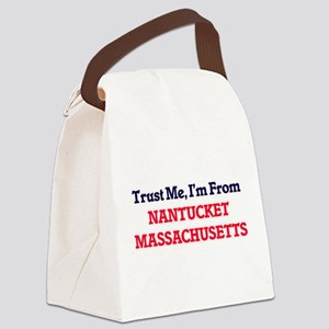 Trust Me, I'm from Nantucket Mass Canvas Lunch Bag