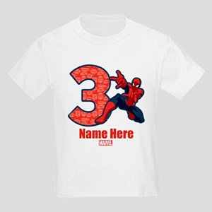 Spider-Man Personalized Birthda Kids Light T-Shirt