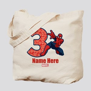 Spider-Man Personalized Birthday 3 Tote Bag