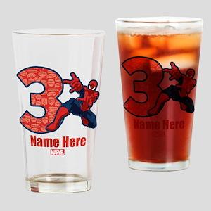 Spider-Man Personalized Birthday 3 Drinking Glass