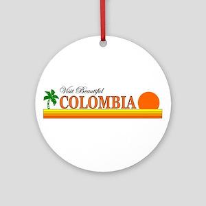 Visit Scenic Colombia Ornament (Round)