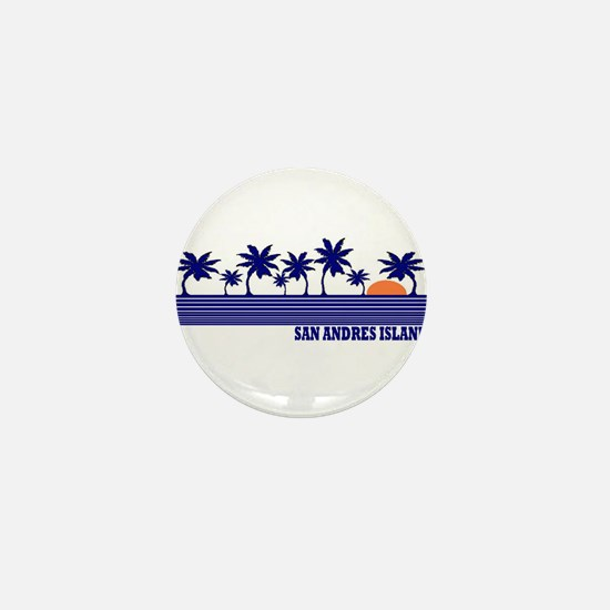 San Andres Island Mini Button