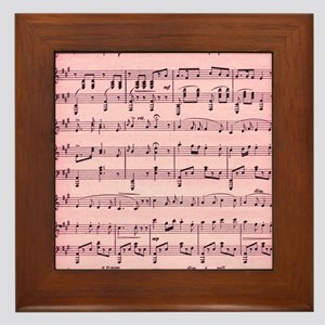 Sheet Music Framed Tile