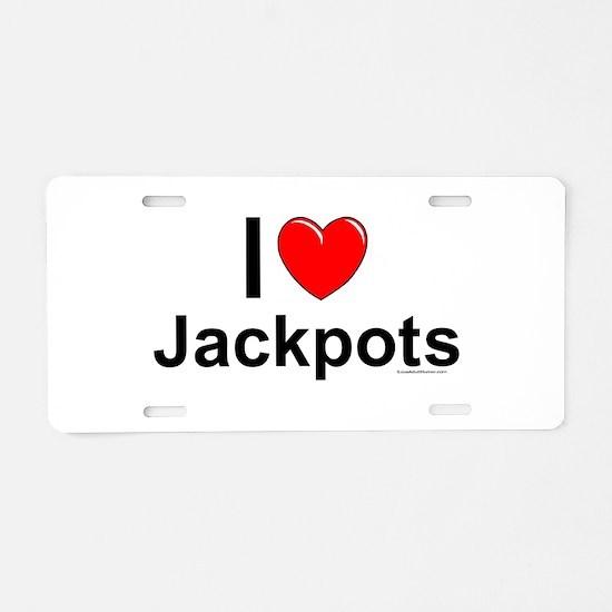 Jackpots Aluminum License Plate