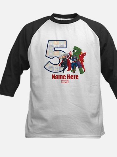 Personalized Avengers Birthda Kids Baseball Jersey