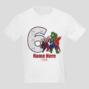 Personalized Avengers Birthday Kids Light T-Shirt