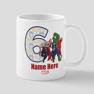Personalized Avengers Birthday Age 6 Mug