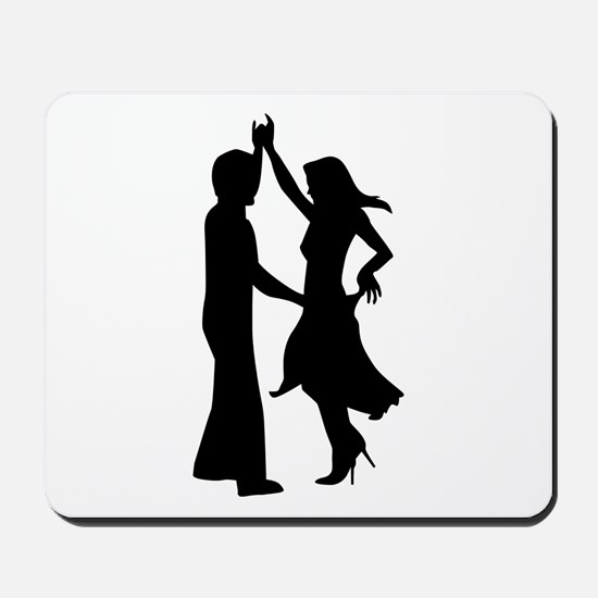 Standard dancing couple Mousepad