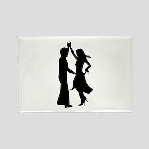 Standard dancing couple Rectangle Magnet