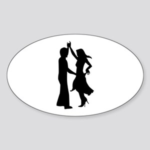 Standard dancing couple Sticker (Oval)