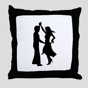 Standard dancing couple Throw Pillow