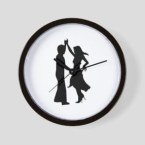 Standard dancing couple Wall Clock