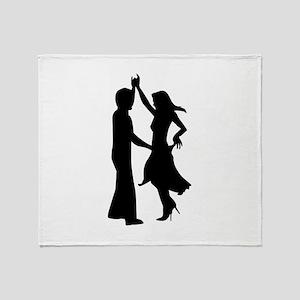 Standard dancing couple Throw Blanket