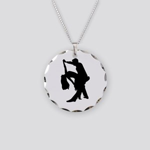 Dancing couple Necklace Circle Charm