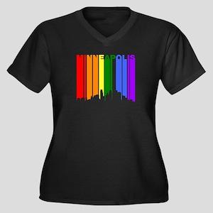 Minneapolis Gay Pride Rainbow Cityscape Plus Size