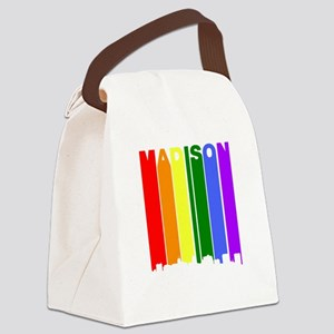 Madison Gay Pride Rainbow Cityscape Canvas Lunch B
