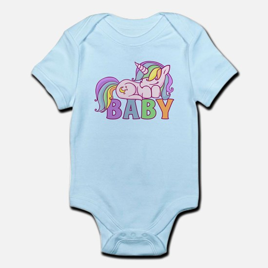 Unicorn Baby Body Suit