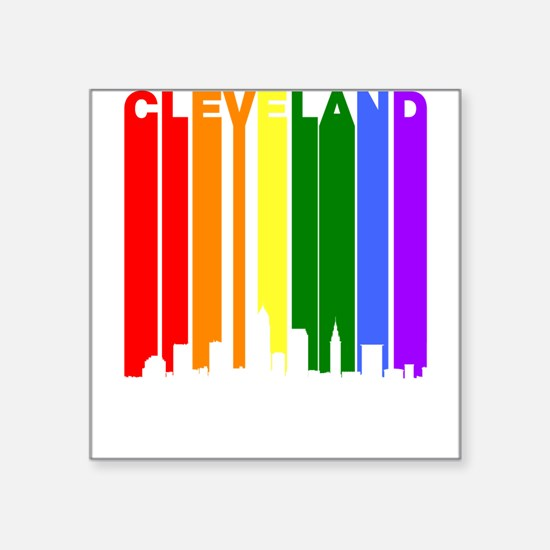 Cleveland Gay Pride Rainbow Cityscape Sticker
