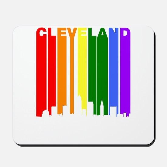 Cleveland Gay Pride Rainbow Cityscape Mousepad