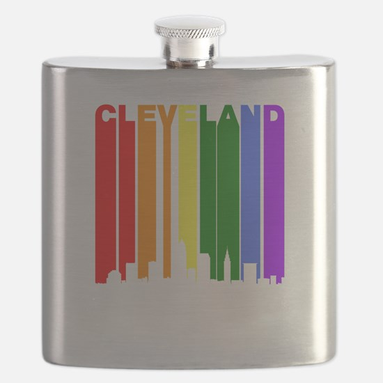 Cleveland Gay Pride Rainbow Cityscape Flask