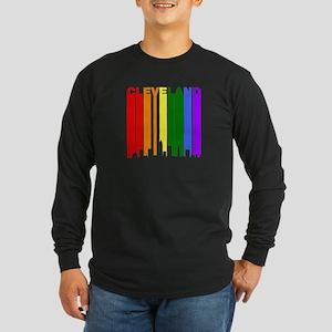 Cleveland Gay Pride Rainbow Cityscape Long Sleeve