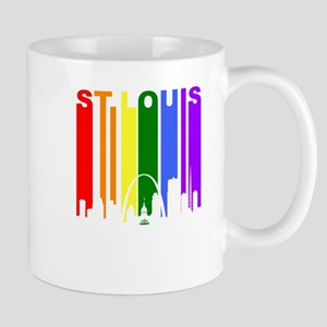St Louis Gay Pride Rainbow Cityscape Mugs