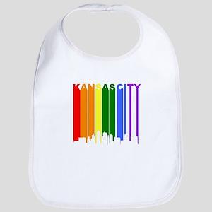 Kansas City Gay Pride Rainbow Cityscape Bib