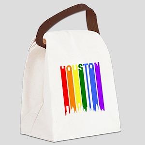 Houston Gay Pride Rainbow Cityscape Canvas Lunch B