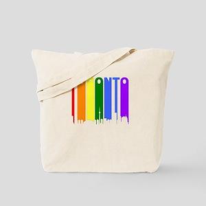 Toronto Gay Pride Rainbow Cityscape Tote Bag