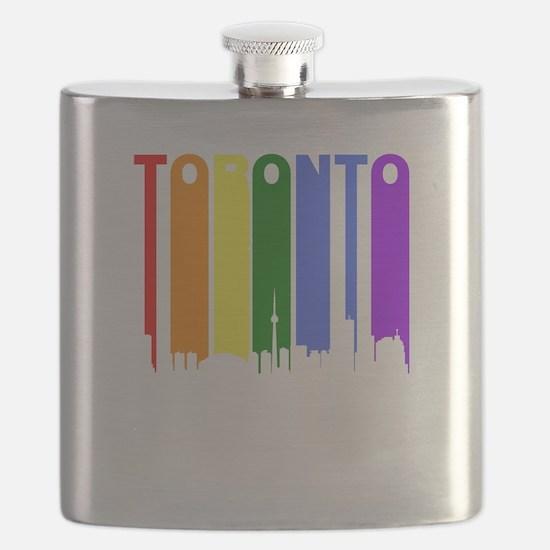 Toronto Gay Pride Rainbow Cityscape Flask