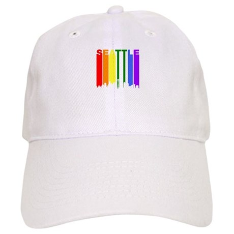 Delicieux Seattle Gay Pride Rainbow Cityscape Baseball Cap
